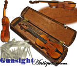 Click to view larger image of MINIATURE FOLK ART FIDDLE  –  Co. E 1st US Sharp Shooters / 1st New Hampshire Cavalry (Image3)