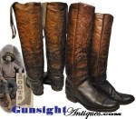 Click to view larger image of outstanding early mid-1800s - fancy stitched Wellington style COWBOY BOOTS (Image2)