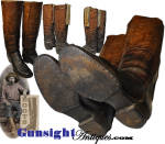Click to view larger image of outstanding early mid-1800s - fancy stitched Wellington style COWBOY BOOTS (Image3)
