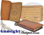 1807 through 1815 hand bound FARMER'S ALMANAC of veteran Revolutionary War Minuteman