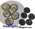 Click to view larger image of rarely offered set of 5 - 18th Century Liverpool Transfer – CERAMIC BUTTONS  (Image3)