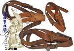 Click here to enlarge image and see more about item 60129: extra nice period bridle leather FLAG BEARER SLING