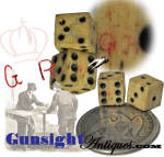 original Civil War vintage - tariff marked BONE DICE