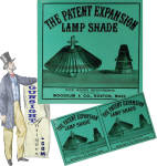 3rd quarter 19th century - Patent Expansion Lamp Shade – BOX LABEL
