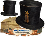 earlier 19th century through Civil War era STOVEPIPE HAT