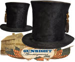 Click to view larger image of earlier 19th century through Civil War era STOVEPIPE HAT (Image3)