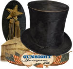 Click to view larger image of earlier 19th century through Civil War era STOVEPIPE HAT (Image4)