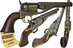 Click to view larger image of scarce! Colt New Model 1861 Navy – RICHARD / MASON Cartridge Conversion (Image4)