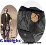 Click to view larger image of Civil War vintage Gentleman's FROCK COAT (Image3)