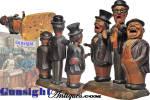 Click to view larger image of folk-art carved BAR SET (Image2)