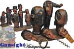 Click to view larger image of folk-art carved BAR SET (Image3)