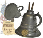 second quarter of the 19th century Pewter Camphene Lamp