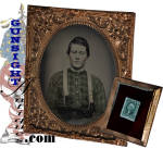 Click to view larger image of Civil War dated 6th plate:  TINTED AMBROTYPE PORTRAIT    (Image2)