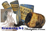 Fine Condition - Ladies Fur Muff By The Civil War Whipple Hat Makers: Purinton & Ham