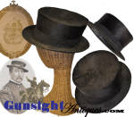 Click to view larger image of rarely found - Civil War vintage 'Gen. Sheridan' style BEAVER  HAT  (Image2)