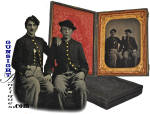 Civil War 'Brothers in arms' - ¼ plate TINTYPE