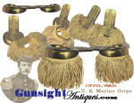 rarely seen!  Civil War MARINE – regulation Shoulder Scales - complete with Detachable Fringe