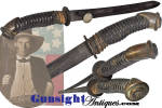 Click to view larger image of CS Foot Officer Sword made - Confederate SIDE KNIFE   (Image1)