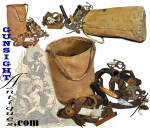 Click to view larger image of mid-19th century Sail Maker's Ditty Bag with ORIGINAL CONTENT (Image2)