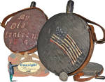 1864 paint decorated Civil War CANTEEN