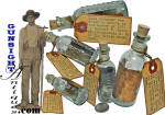 Click here to enlarge image and see more about item 6369: Civil War vintage bottle - DR. HAWKS  UNIVERSAL STIMULANT – POST WAR CURIO