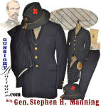 Click to view larger image of complete!  G. A. R. / Civil War Veteran uniform of Brig. General Stephen H. Manning – 1st & 5th Main (Image1)