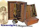 Click here to enlarge image and see more about item 6397: Civil War vintage MICROSCOPE