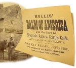 Civil War era MEDICAL CURE � BALM OF AMERICA - BROADSIDE
