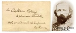 Click here to enlarge image and see more about item 668: CIVIL WAR CONFEDERATE GENERAL Geo. Maney AUTOGRAPH