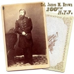Click here to enlarge image and see more about item 700: CIVIL WAR Col. Brown, 100th N. Y. Vols.  PHOTO