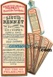 Civil War era PHARMACY – RENNET FOR CULINARY USE -  LABEL