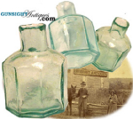 Click here to enlarge image and see more about item 857: Civil War era GLASS INKWELL