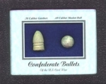 Click here to enlarge image and see more about item 916: CONFEDERATE Civil War  BULLET DISPLAY