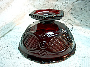 Avon Cape Cod Ruby Red Open Candy Dish
