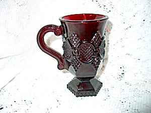 Vintage Avon Cape Cod Ruby Red Coffee Mug