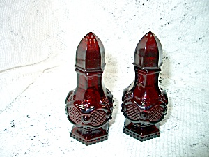 Vintage Avon Cape Cod Ruby Red Salt/pepper Set