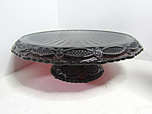 Vintage Avon Cape Cod Ruby Red Pedestal Cake Plate
