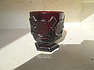 Vintage Avon Cape Cod Ruby Red Footed Tumbler
