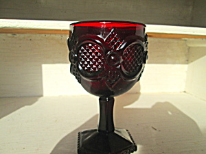 Avon Cape Cod Ruby Red Stemmed Water Goblet