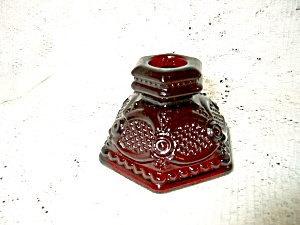 Vintage Avon Cape Cod Ruby Red Short Candlestick