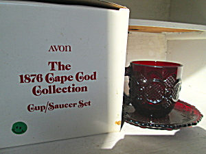Vintage Avon Cape Cod Ruby Red Cup/saucer Set