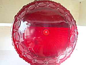 Vintage Avon Cape Cod Ruby Redserving Tray Bottom Plate