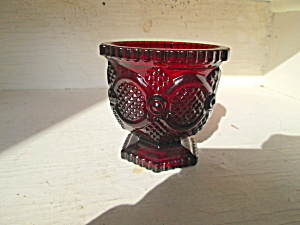 Vintage Avon Cape Cod Ruby Red Suger Bowl