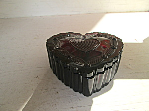 Vintage Avon Cape Cod Ruby Red Heart W/lid
