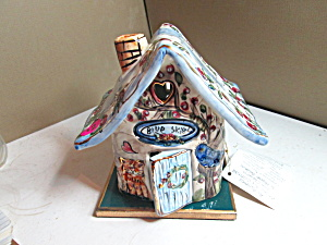 Authentic Ceramic Art Collectible Blue Skies House