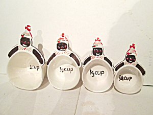 Ceramic Glittering Goodies Gingerbread Measuring Cups