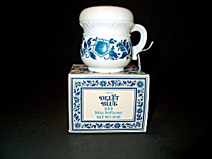 Vintage Avon Delft Blue Container Covered Cup