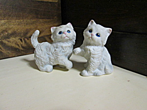 Two Vintage Homco Persian Kitten Figurines No Ribbon
