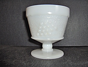 Anchor Hocking Milk Glass Footed Grape Sherbet
