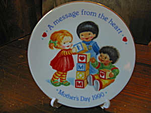 Avon A Message From The Heart 1990 Plate